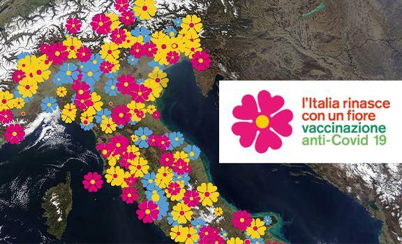 """""""L'Italia rinasce con un fiore"""", il Report Vaccini Anti Covid-19: consegnate già 469.950 dosi in Italia"""