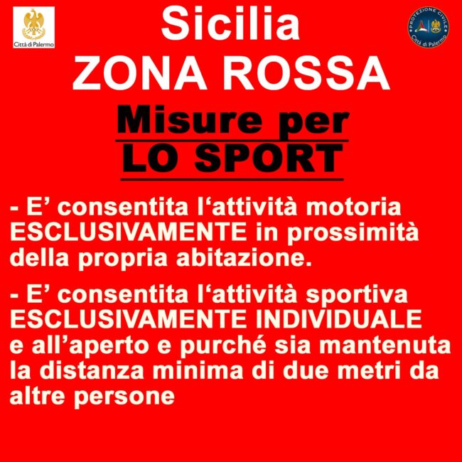 sport coronavirus sicilia