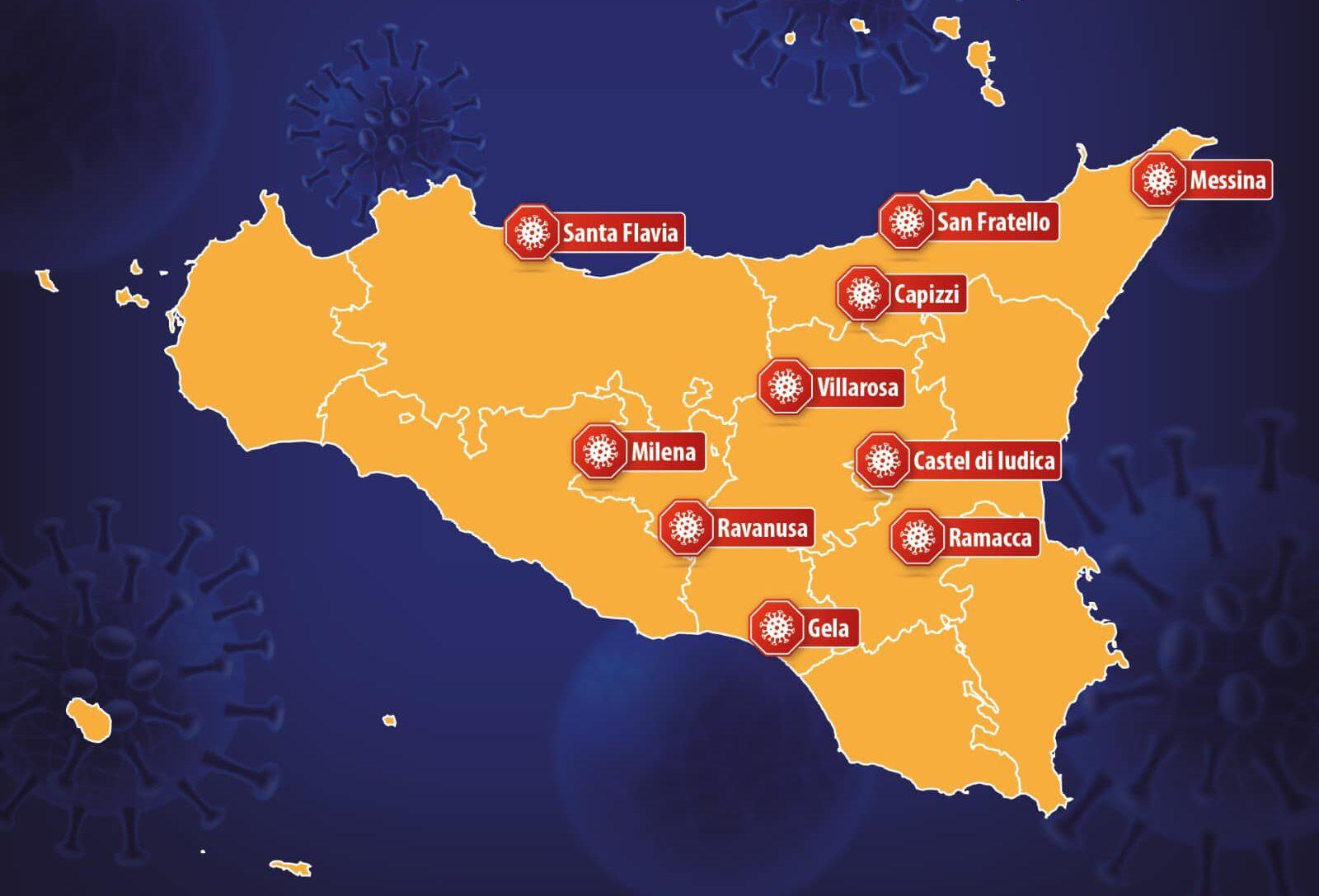 Coronavirus, in Sicilia sono 10 le zone rosse: da oggi anche Gela e Villarosa