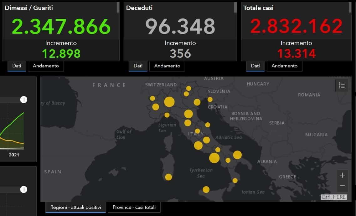 Bollettino 23 febbraio Coronavirus Italia: +356 decessi, oltre 13mila nuovi positivi – I DATI