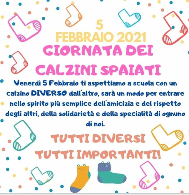 """""""Calzini spaiati"""" al Circolo Didattico G. Fava di Mascalucia"""