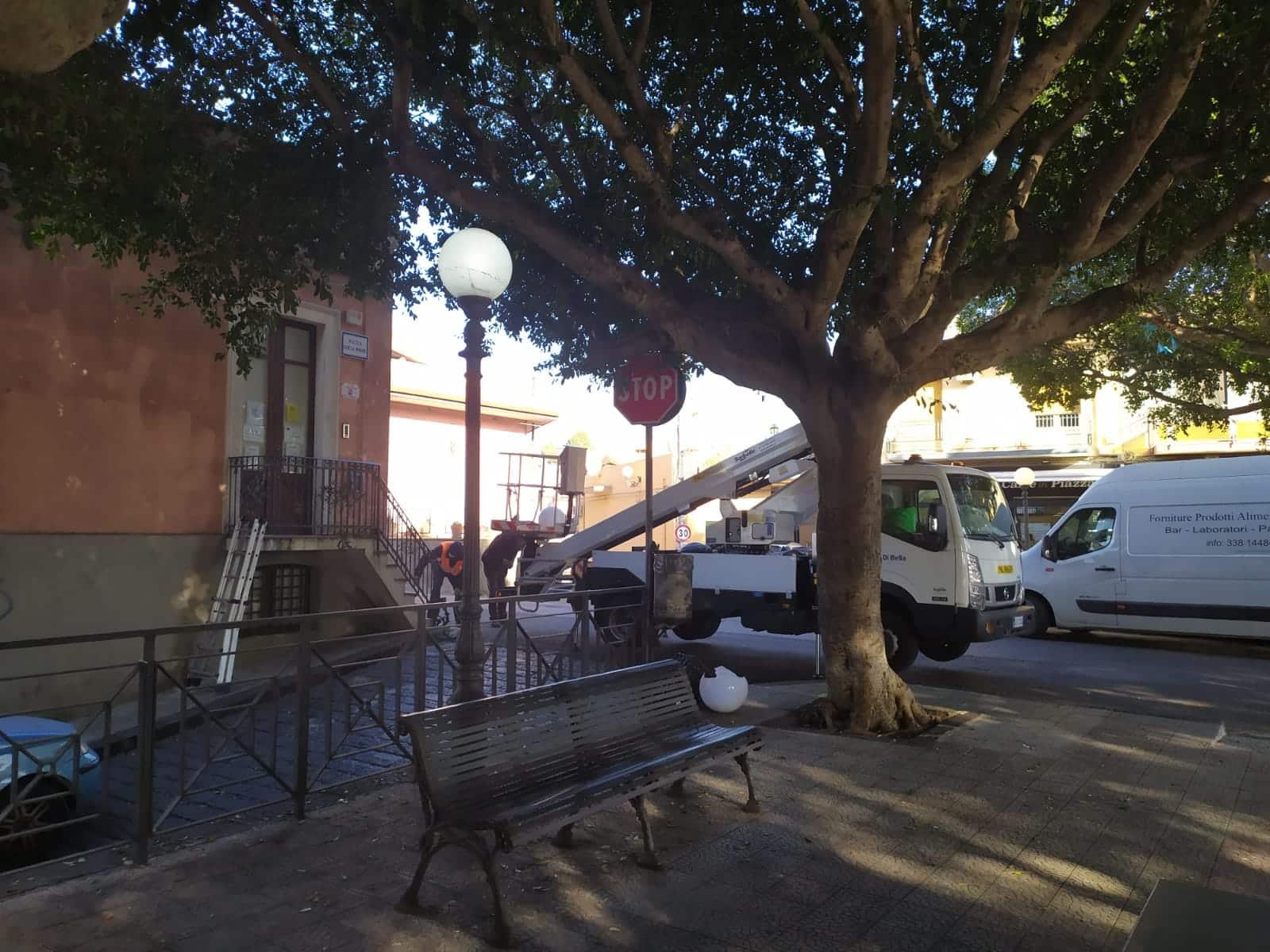 """Catania, torna la luce anche su piazza Chiesa Madre a San Giovanni Galermo. Buceti: """"Ringrazio amministrazione"""""""