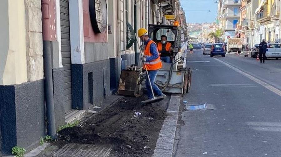 Catania, cantiere in via Palermo: rifacimento della strada e nuova sicurezza per i cittadini