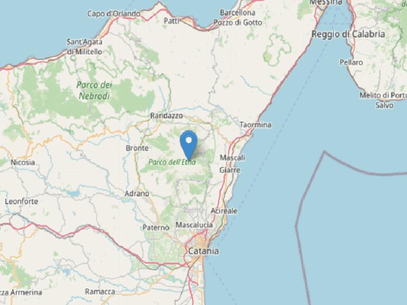 Trema la terra nel Catanese, terremoto di magnitudo 2.5: i dettagli