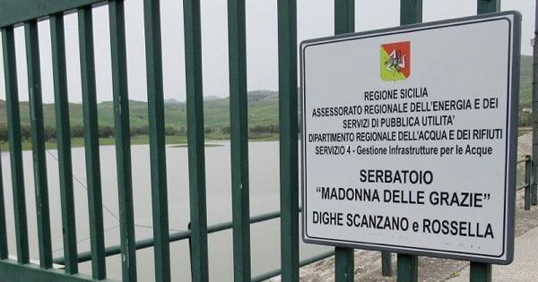 Sicilia, avviato l'iter per i lavori sulle dighe Scanzano e Rossella