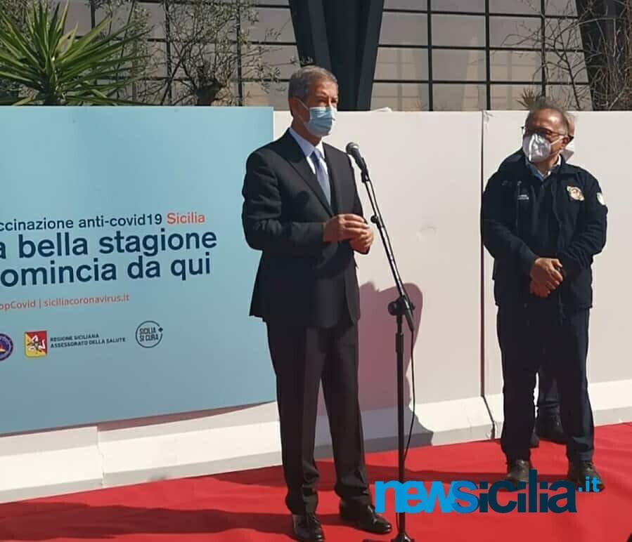 """Catania, a San Giuseppe La Rena inaugurato centro vaccinazione anti-Covid. Musumeci: """"Una bella giornata"""" – FOTO"""