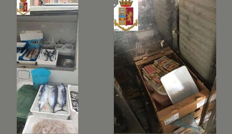 Controlli al mercato di Aci Catena, pessima igiene e alimenti di dubbia provenienza: due sequestri