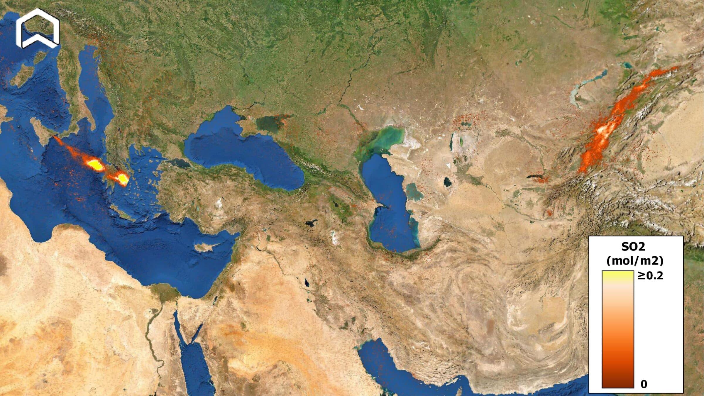"""Etna """"alla conquista"""" della Cina: nube di SO2 raggiunge l'Estremo Oriente e incanta il mondo"""
