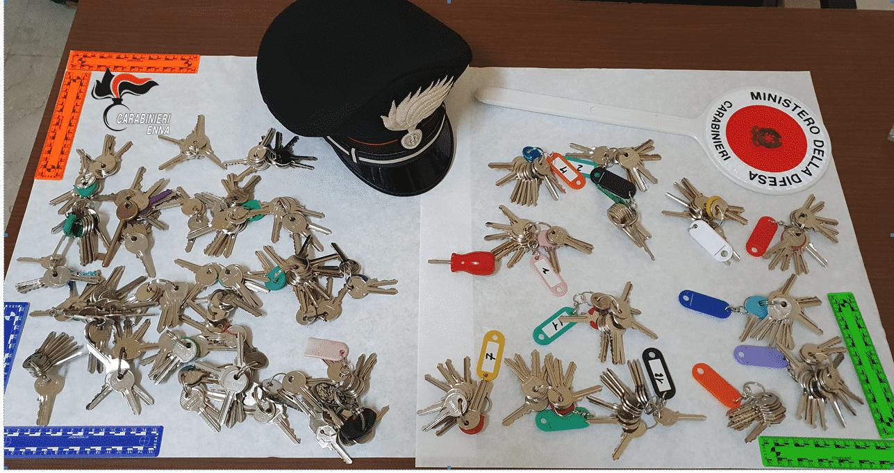 In uno zaino 300 chiavi diverse per rubare nelle case: fermati per due giorni di fila dai carabinieri
