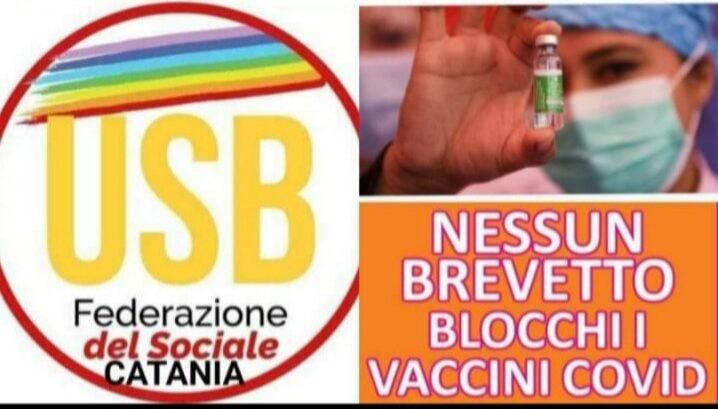 Catania, mobilitazione contro la proprietà privata dei vaccini anti-Covid
