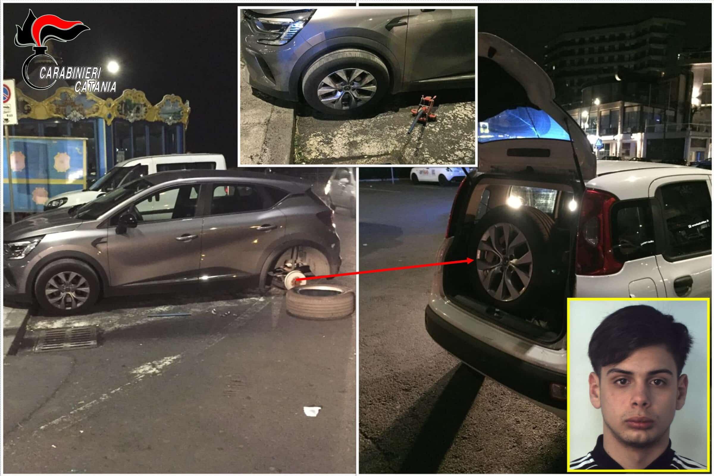"""Catania, sorpresi a """"ripulire"""" un'auto: arrestati due giovanissimi per furto aggravato"""