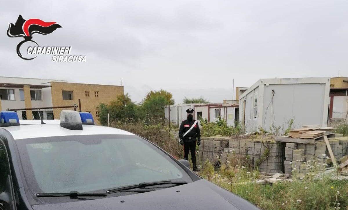 Carlentini, solito cantiere: catanese arrestato in trasferta per furto di materiale edile