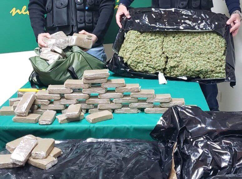 Maxi sequestro di droga a Catania, 3 uomini arrestati con 165 Kg di sostanza stupefacente
