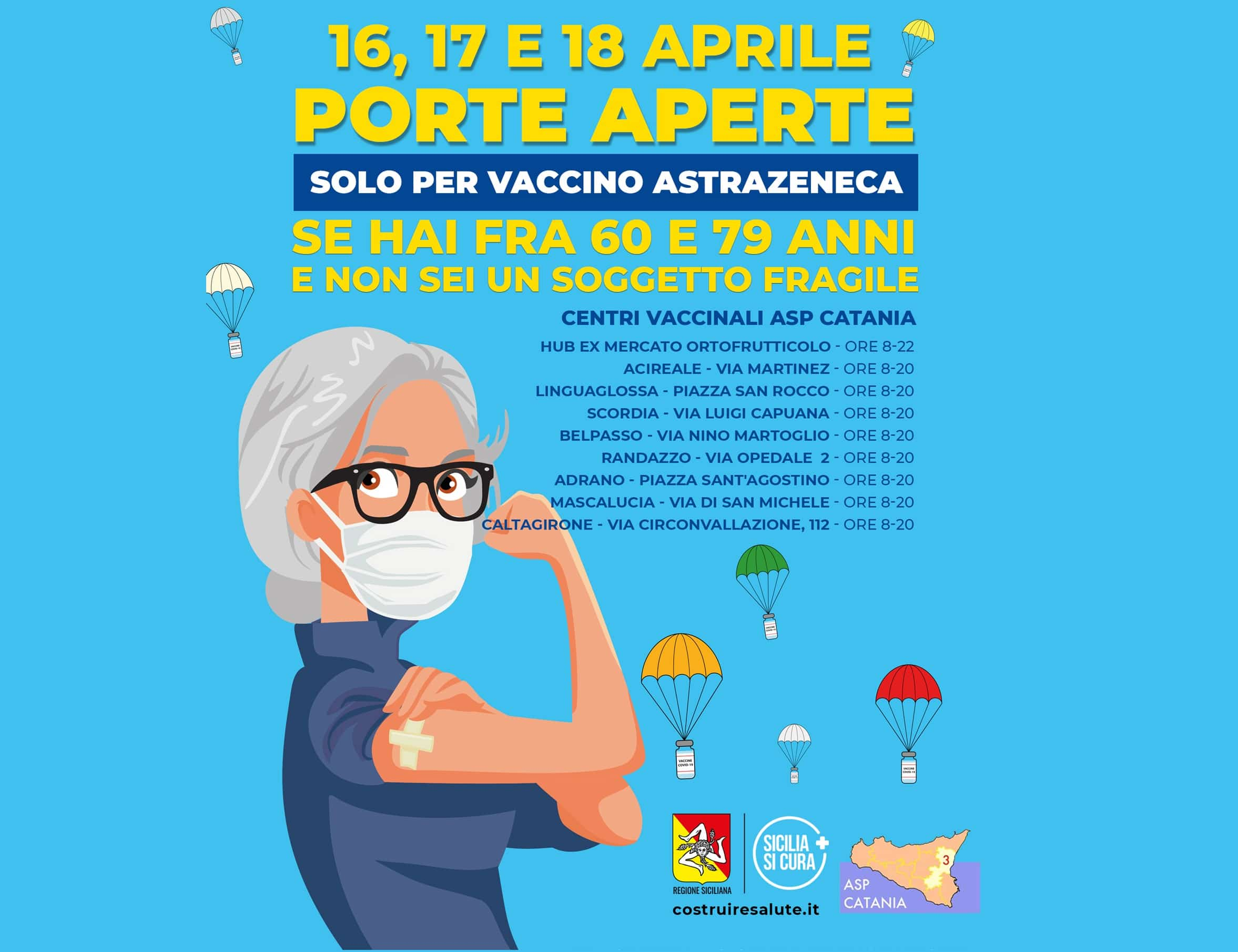 Open Day di vaccinazioni con AstraZeneca, 1.271 adesioni nella seconda giornata a Catania e provincia