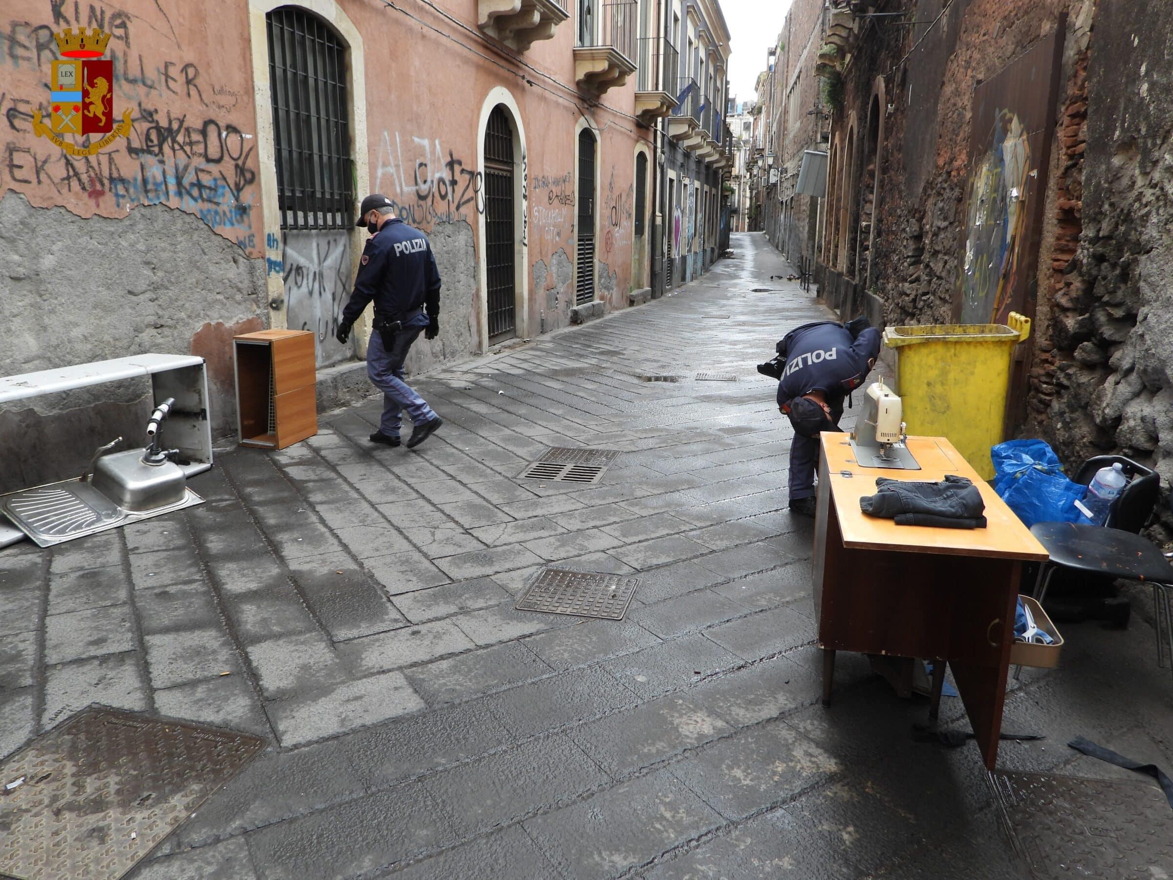 Catania, operazione straordinaria interforze all'interno del quartiere San Berillo Vecchio