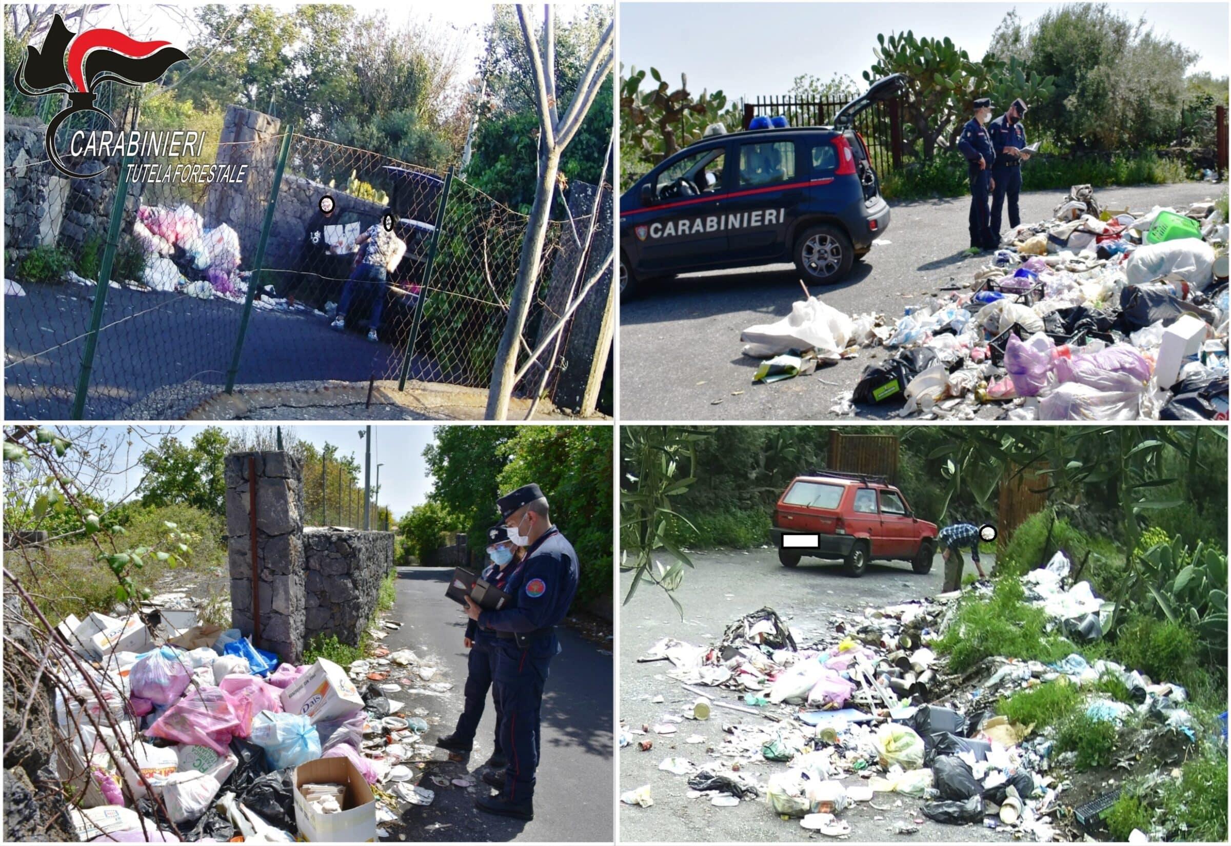 """Lotta agli incivili nel Catanese, sorpresi """"sporcaccioni"""" che abbandonano i rifiuti: 21 sanzioni per oltre 12mila euro"""