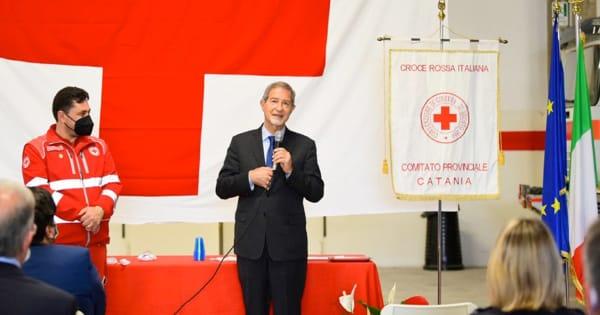 """Croce Rossa, nuovi locali a Catania. Musumeci: """"Sicilia esempio di solidarietà e abnegazione"""" –  VIDEO"""