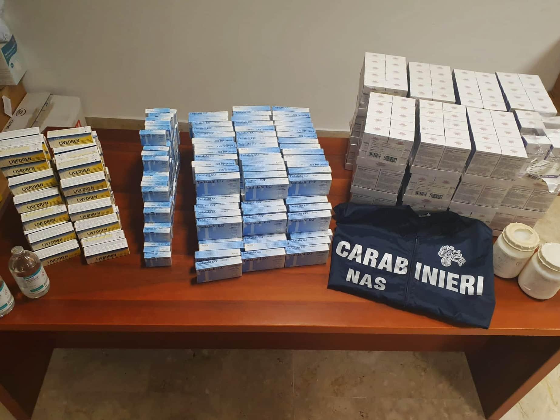 Catania, farmaci detenuti illegalmente in un bar: blitz dei NAS, i dettagli