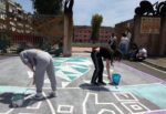 "All'I.O.S. ""Angelo Musco"" street-art sull'emergenza climatica – FOTO"