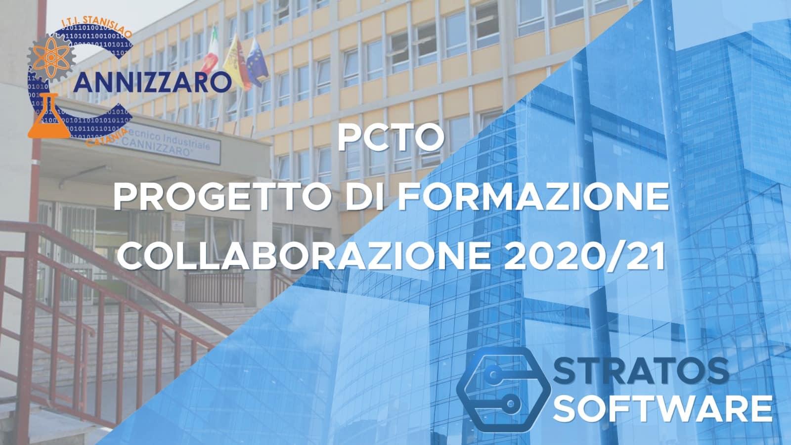 """PCTO 2020/21, formazione in azienda tra Stratos Software ltd e ITI """"S. Cannizzaro"""