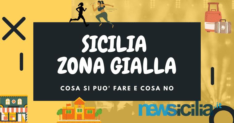 Sicilia zona gialla, le REGOLE in vigore da domani: spostamenti, viaggi, ristoranti e sport