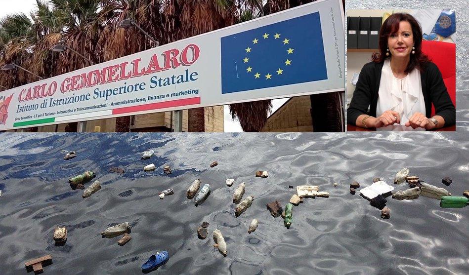 """Plastic Free Waters, l'Istituto """"Gemmellaro"""" di Catania incontra il Rotary Club: per un futuro ecosostenibile"""