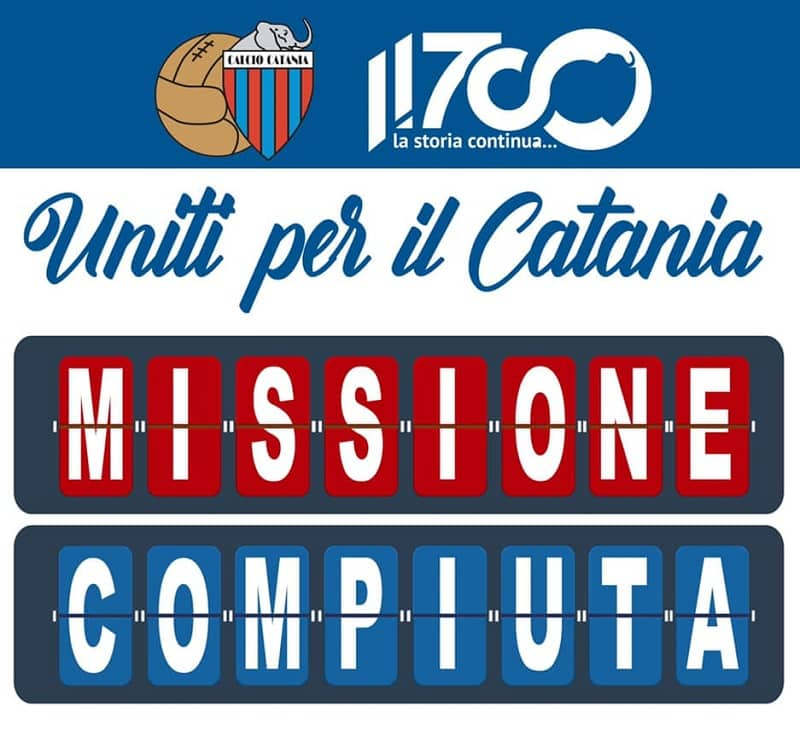 """Calcio Catania in Serie C, """"continua la storia"""". I soldi grazie all'amore dei tifosi: """"Uno sconto a chi ha contribuito?"""""""
