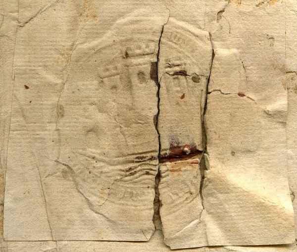 Ritrovato il più antico sigillo su carta del XVI secolo raffigurante il comune di Licata