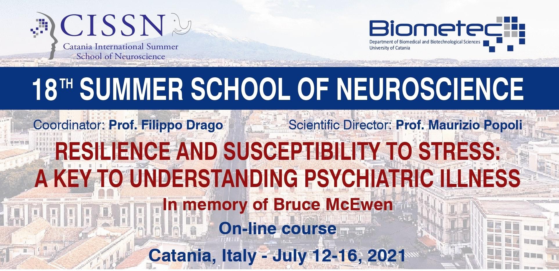 """""""Catania International Summer School of Neuroscience"""". Studenti da tutta Europa e 10 borse di studio offerte da SIF"""