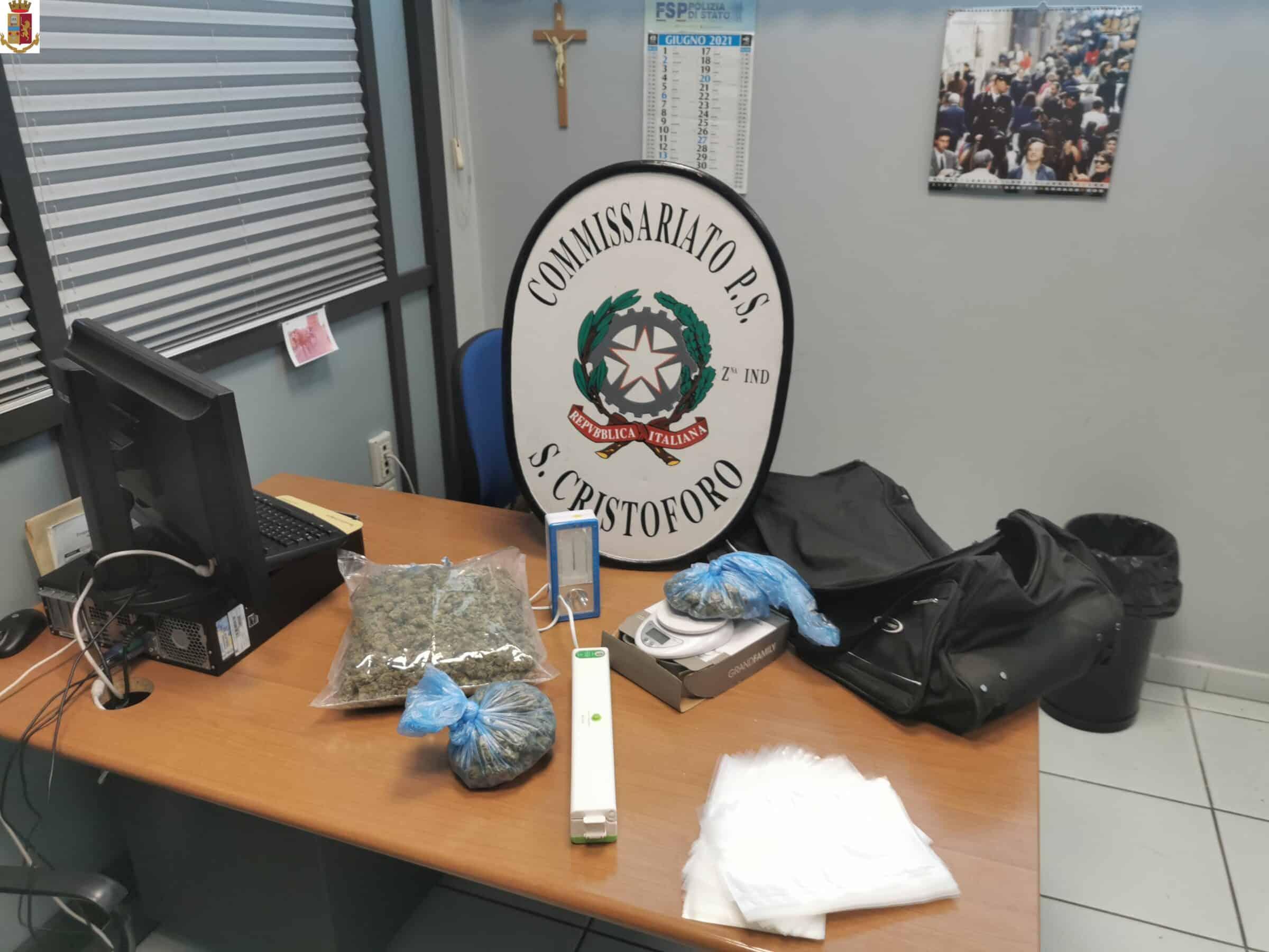 """Catania, i """"sospetti"""" di un uomo e il ritrovamento: scovati 700 gr. di marijuana a San Cristoforo"""