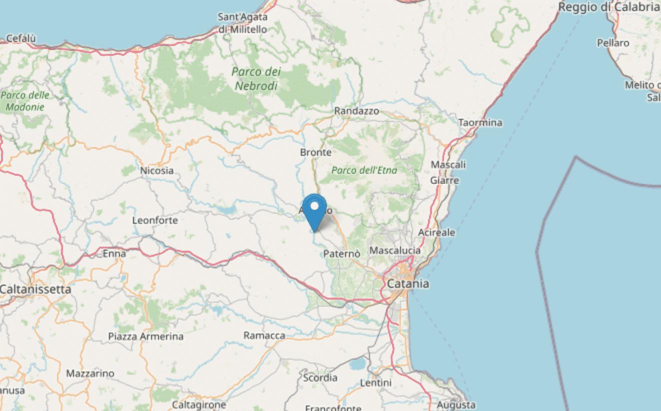 Torna a tremare il Catanese, registrata scossa di terremoto con magnitudo 2.8 – I DETTAGLI