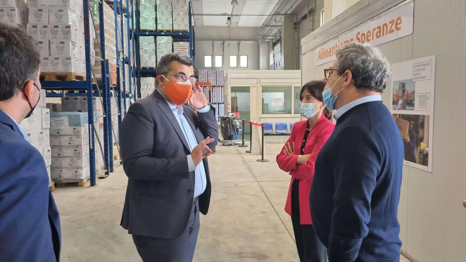 Catania, presidente dell'Ars Miccichè in visita al Banco Alimentare della Sicilia Onlus – FOTO e VIDEO