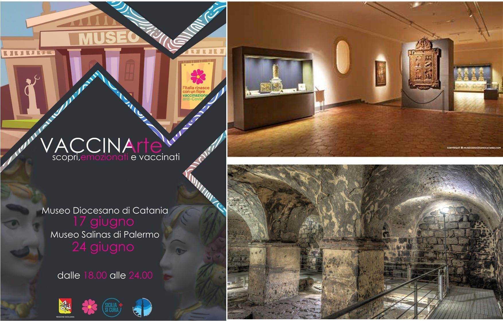 """Torna """"VaccinArte"""", connubio tra cultura e immunizzazione: dalle 18 alle 24 vaccino e visita museo Diocesano a Catania"""