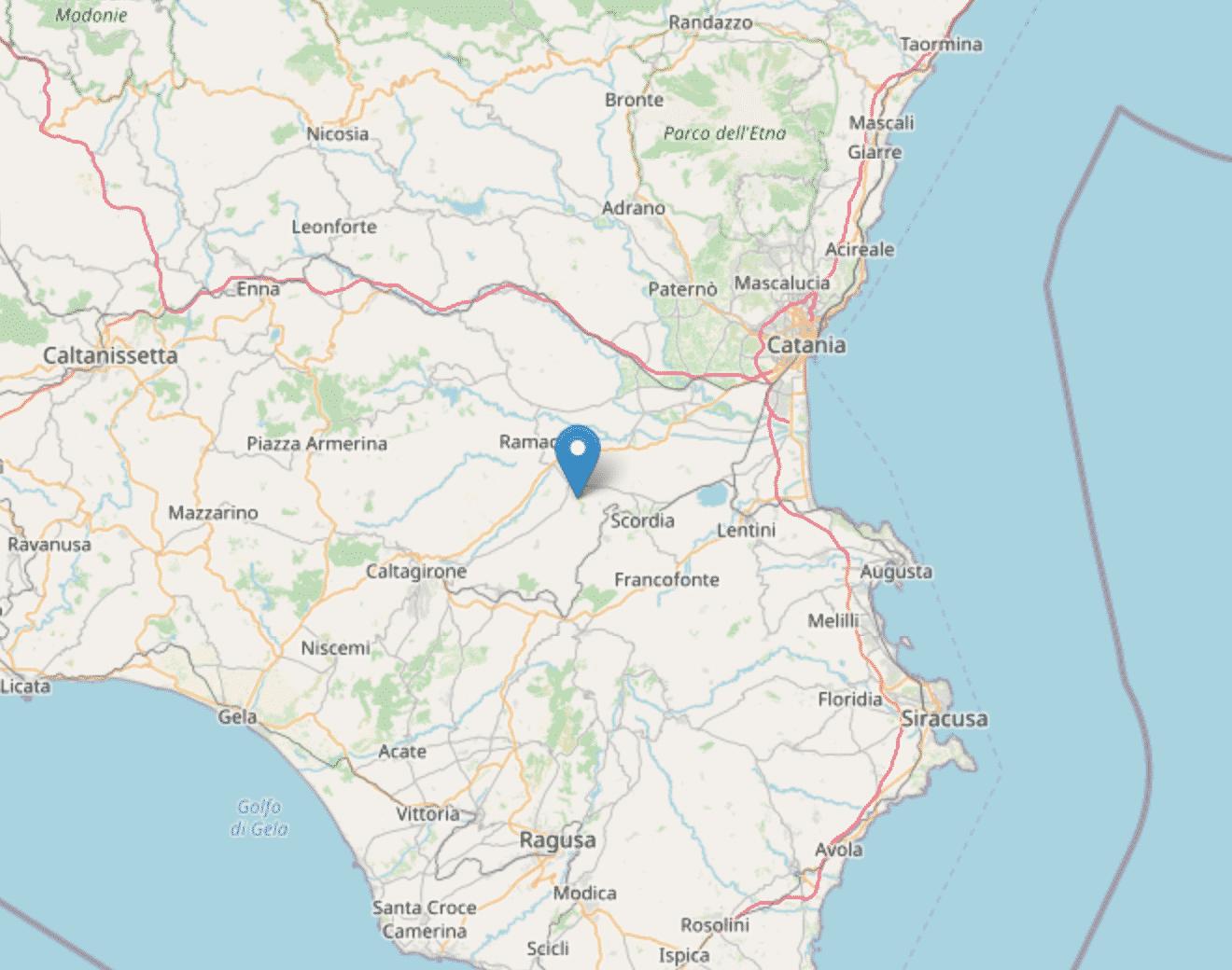 Terremoto in provincia di Catania, scossa di magnitudo 3.2 nell'est della Sicilia
