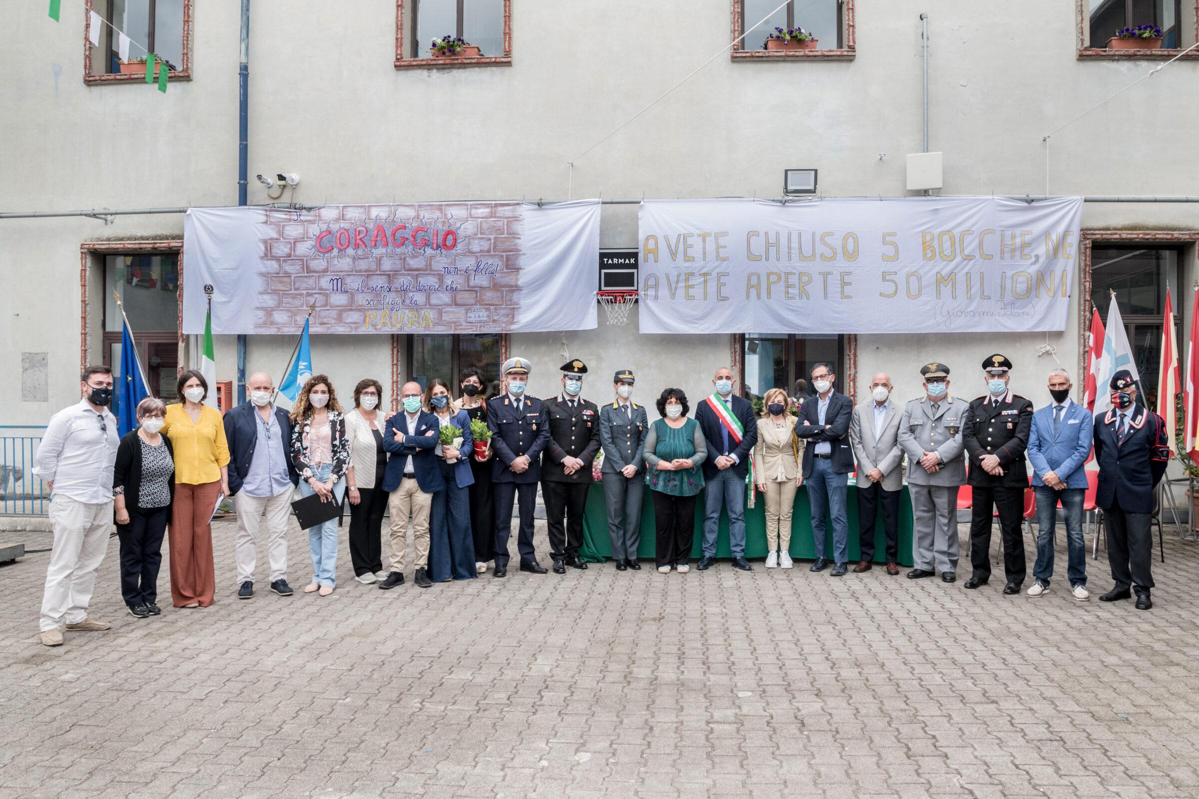 """Circolo Didattico Zafferana, """"1 giugno 2021 – Insieme per la Legalità"""": il ricordo delle vittime della mafia"""