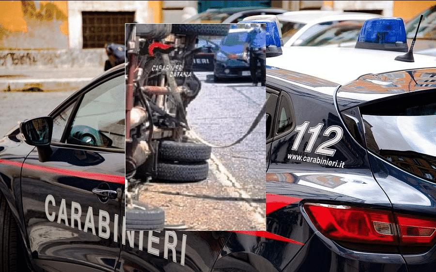 Catania, furto e fuga a bordo di un camion: durante l'inseguimento il mezzo si ribalta