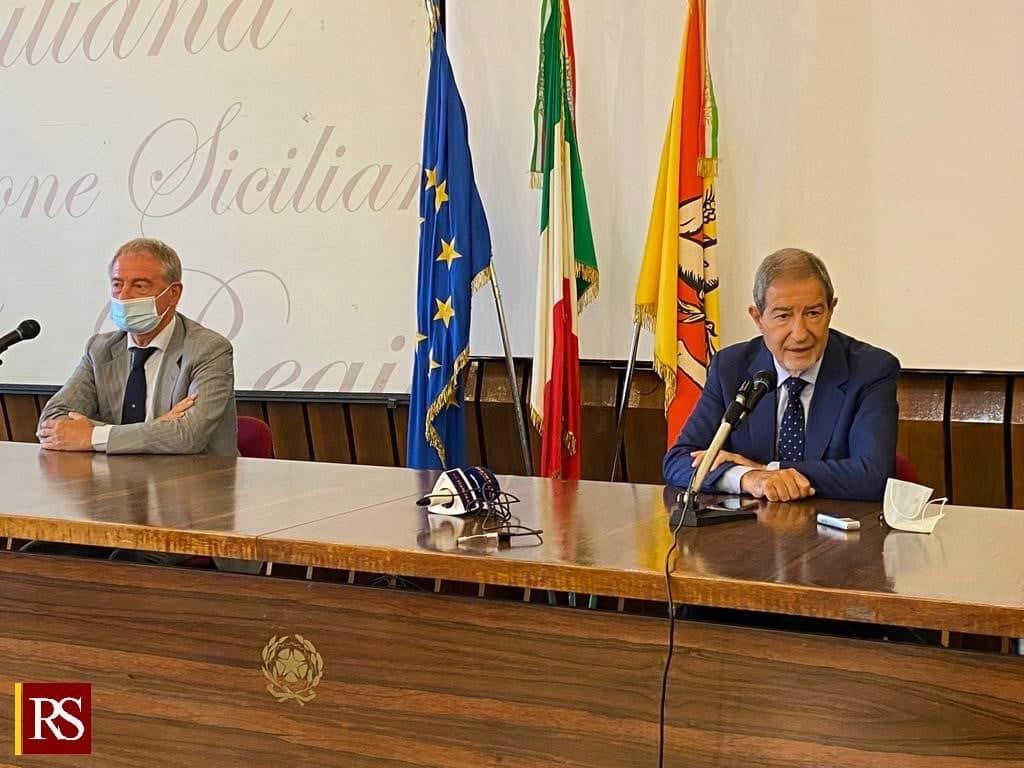 """Musumeci incontra il presidente Copasir, tavolo su immigrazione e infrastrutture: """"Sicilia piattaforma logistica del Mediterraneo"""""""
