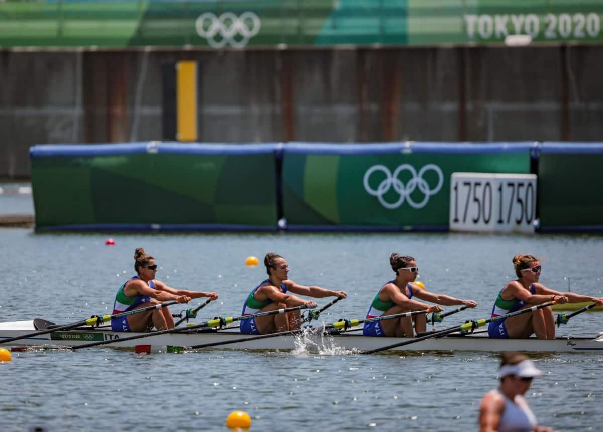 Tokyo 2020, Canottaggio: Italia in finale anche con il quattro di coppia femminile