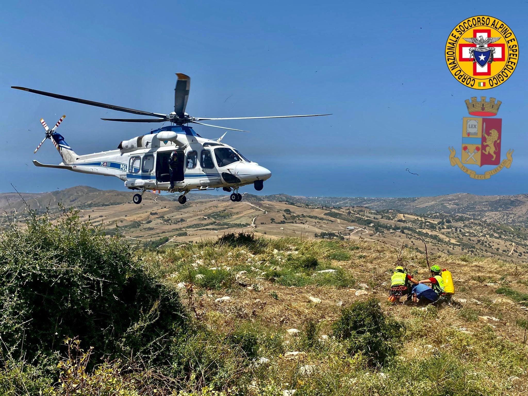 Escursione da incubo in Sicilia, in tre si perdono in gita in montagna: salvati da Soccorso Alpino e Polizia di Stato