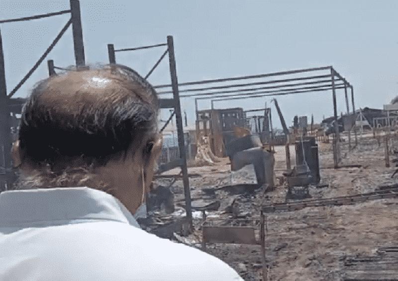 Incendio Le Capannine, sopralluogo di Cocina. Musumeci sul posto: VIDEO e FOTO