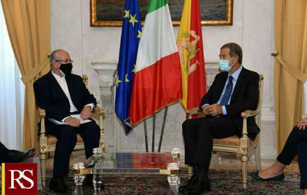 """Nello Musumeci riceve l'ambasciatore Hamid Bayat: """"Tra Iran e Sicilia un antico e solido rapporto"""""""