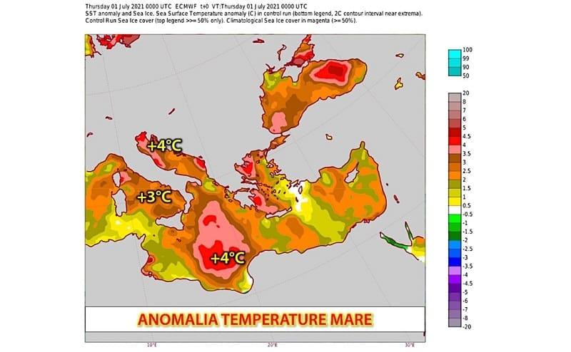 Sicilia, mari bollenti e temperature troppo elevate: si teme per le conseguenze disastrose