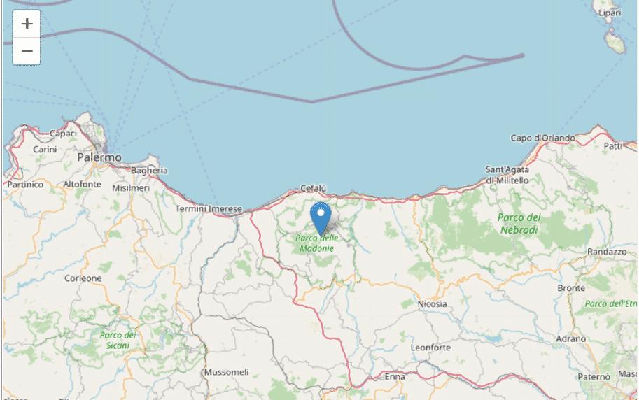 Trema ancora la terra in Sicilia, terremoto magnitudo 2.4 localizzato nel Palermitano