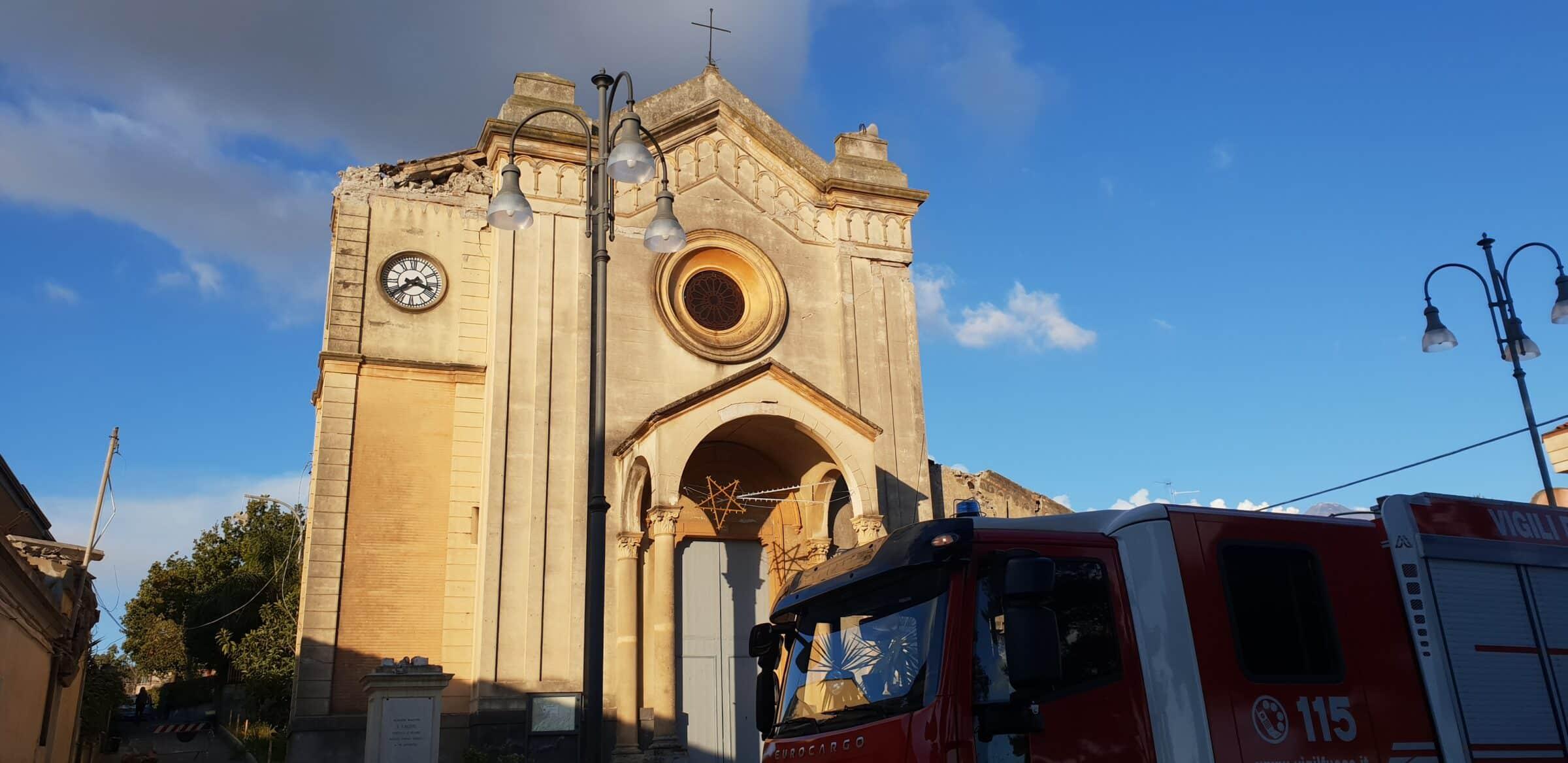 Terremoto di Santo Stefano, indetto concorso per ricostruzione chiesa di Pennisi