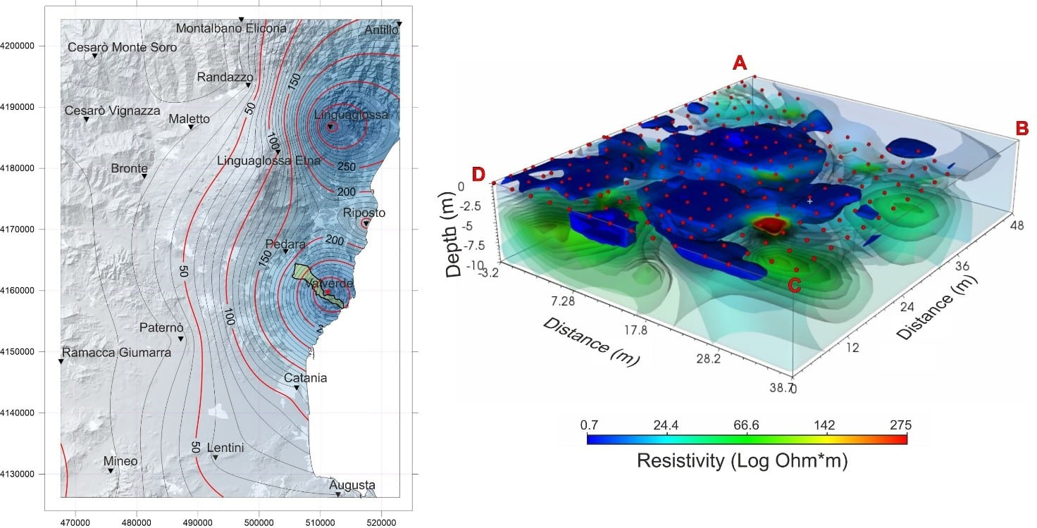 """Lo studio dei cedimenti della superficie nel """"cuore"""" di Valverde in una ricerca dell'ateneo catanese"""