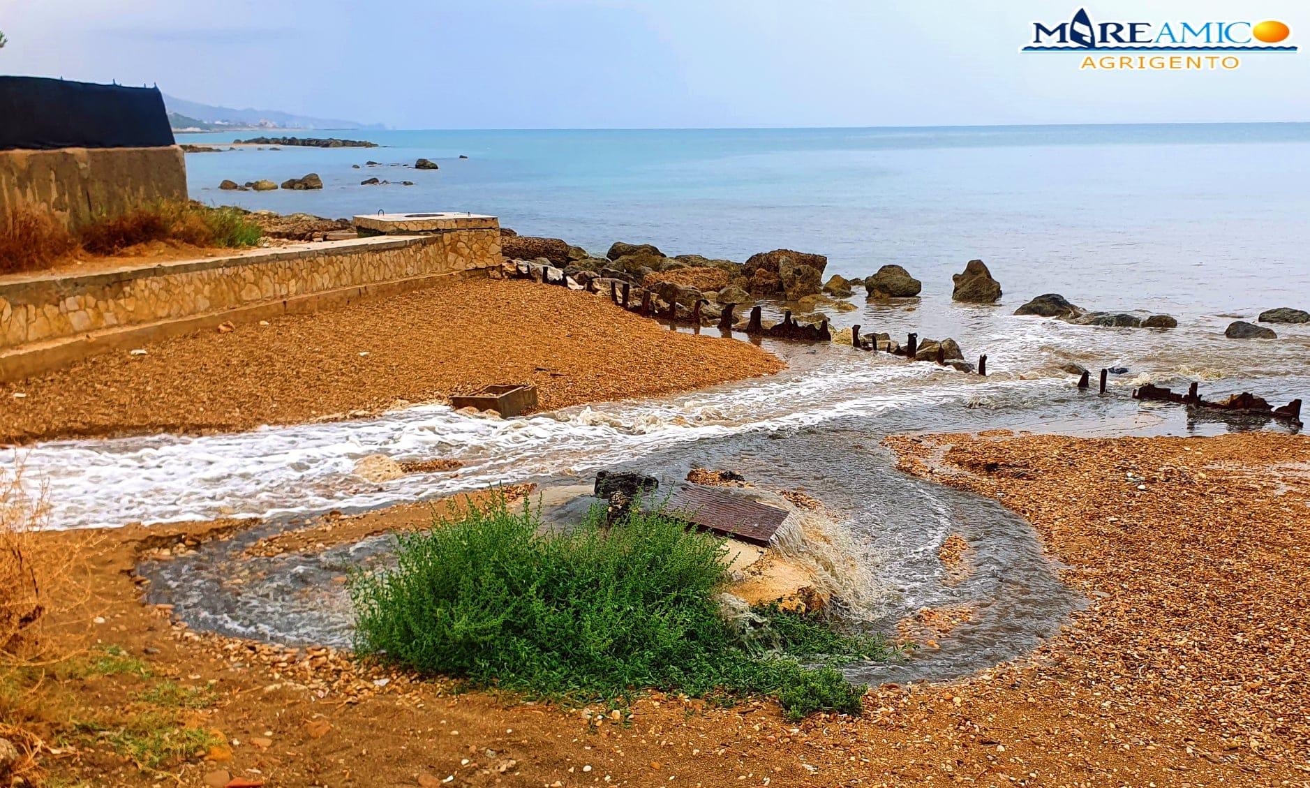 Maltempo in Sicilia, pochi minuti fanno saltare le fogne ad Agrigento: finite in mare acque nere