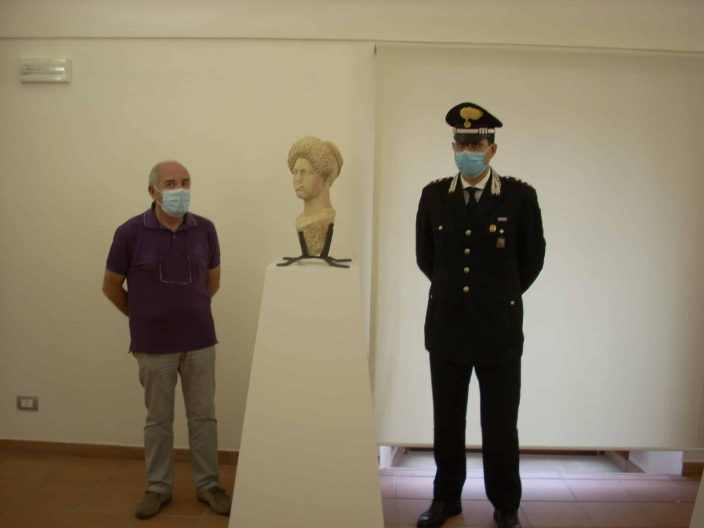 """La """"Dama Flavia"""" torna nel Museo di Piazza Armerina, era stata rubata nel 2006"""