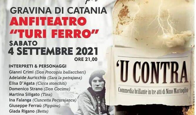 """La """"Compagnia Gymnasium Teatro"""" di Giardini Naxos in gara con 'U Contra al Gran Premio Nazionale Teatro Amatoriale"""