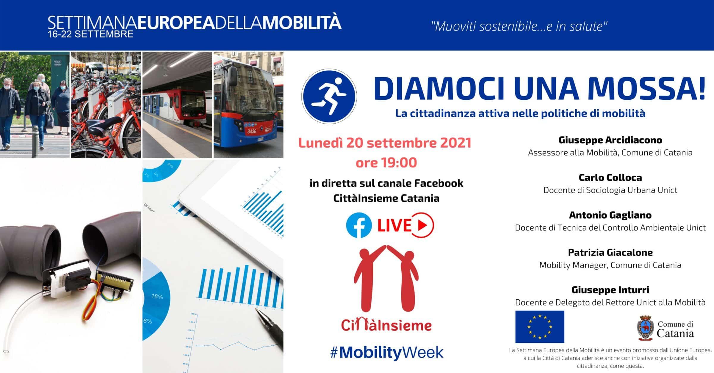 Cittadinanza attiva e mobilità sostenibile, lunedì il dibattito online di CittàInsieme di Catania