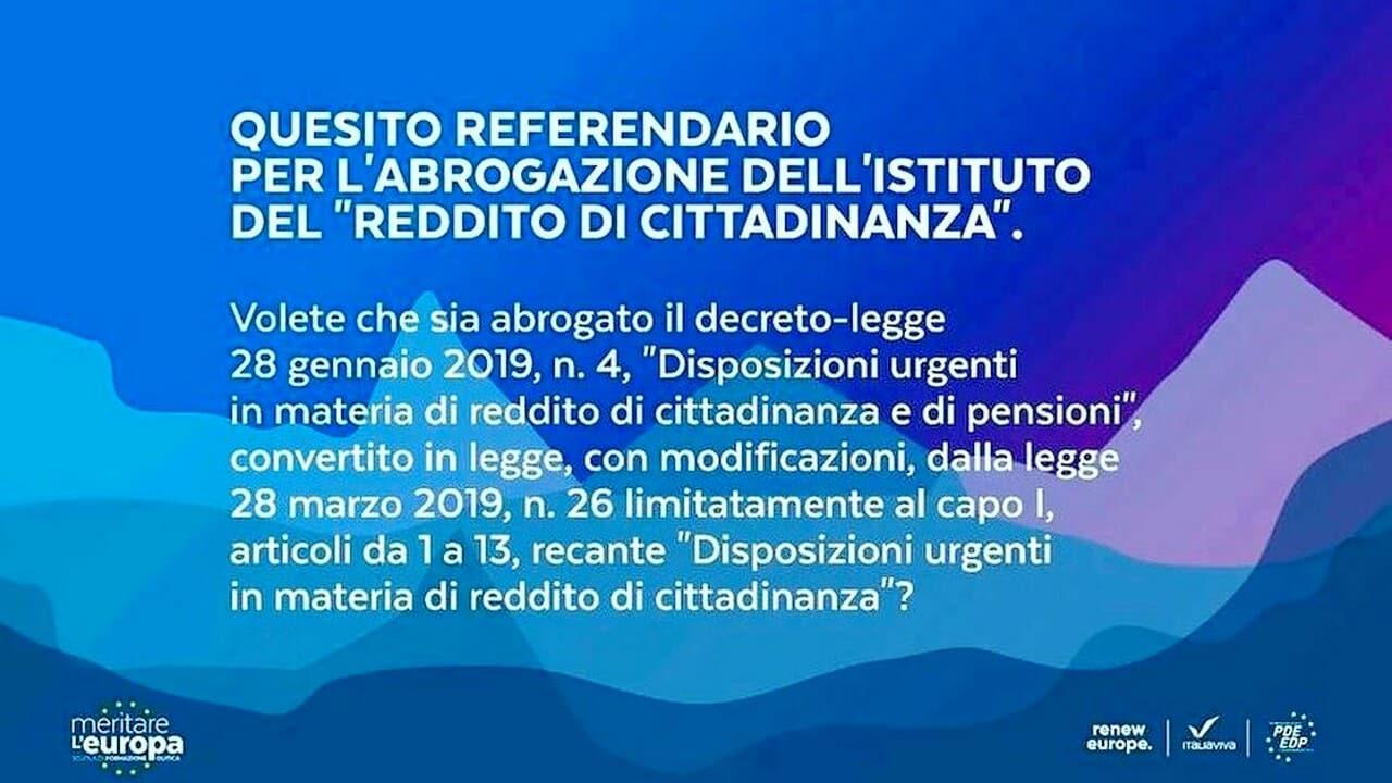 """Addio al Reddito di Cittadinanza, Renzi annuncia il referendum abrogativo: """"Non è a favore dei poveri"""""""